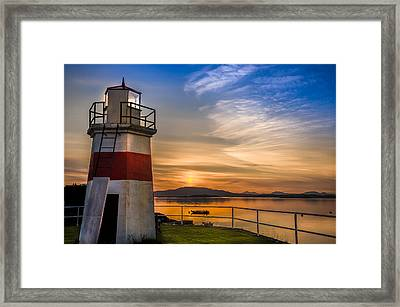 Lighthouse Crinan Canal Argyll Scotland Framed Print