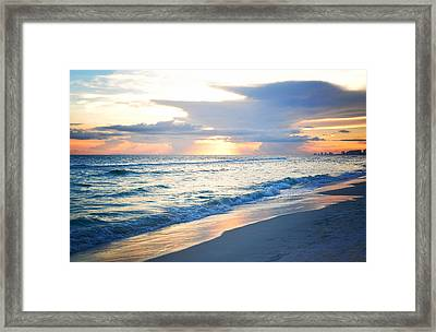End Of The Day Framed Print by April Moran