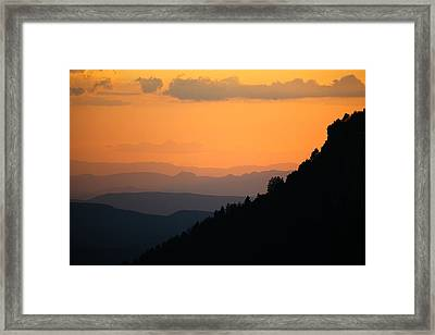 Framed Print featuring the photograph End Of The Day by Brad Brizek