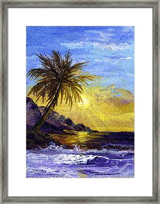 End Of The Day Framed Print by Darice Machel McGuire