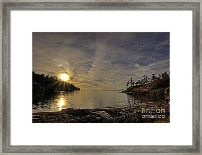 End Of The Day Framed Print by Inge Riis McDonald