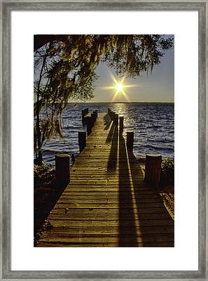 End Of The Day Framed Print by Kathy Ponce