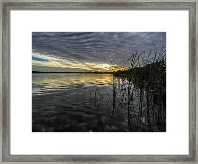 End Of The Day Mirrored Framed Print by Christy Usilton