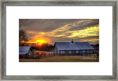 End Of The Day Framed Print by Reid Callaway