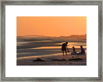 End Of The Day Framed Print by Rosalie Scanlon