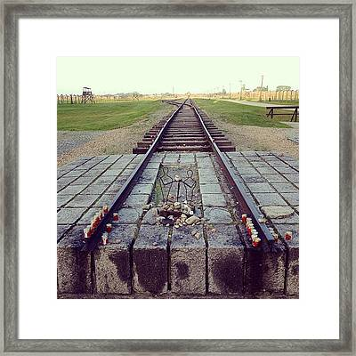 End Of The Death Road. Birkenau Framed Print