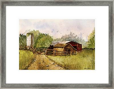 End Of The Gravel Road Framed Print