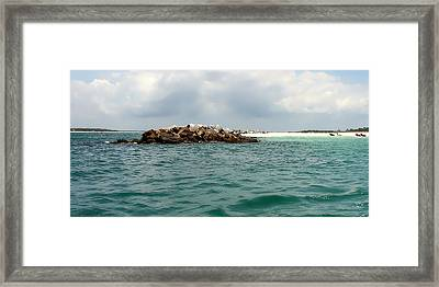 End Of The Jetty Framed Print by Debra Forand