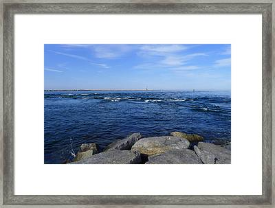 End Of  The Jetty Framed Print