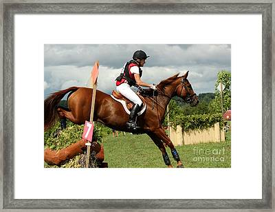 End Of The Jump Framed Print