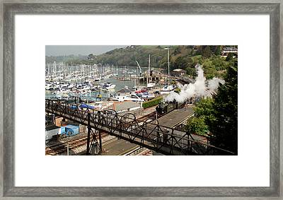 End Of The Line At Kingswear Framed Print by Peter Hunt
