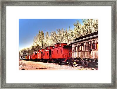 End Of The Line Framed Print by Chas Burnam