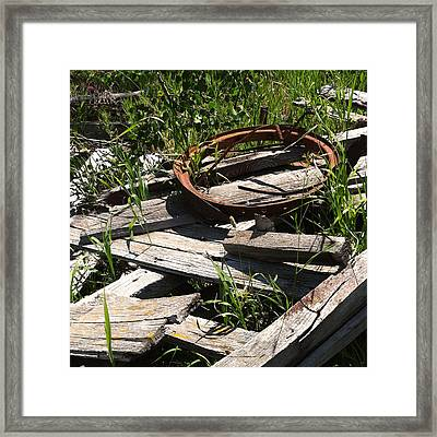 Framed Print featuring the photograph End Of The Line by Meghan at FireBonnet Art