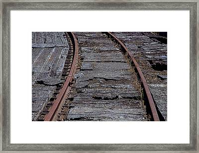 End Of The Line Framed Print by Garry Gay