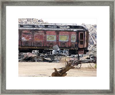 End Of The Line Framed Print by Steve Brown