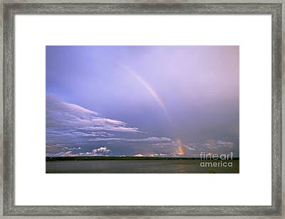 End Of The Rainbow Sebago Lake Maine Framed Print by Butch Lombardi