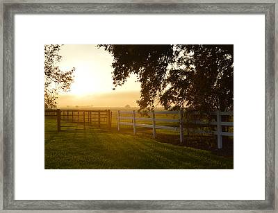 End Of The Road Framed Print by Eileen Corbel