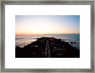 Framed Print featuring the photograph End Of The Road by Jon Emery