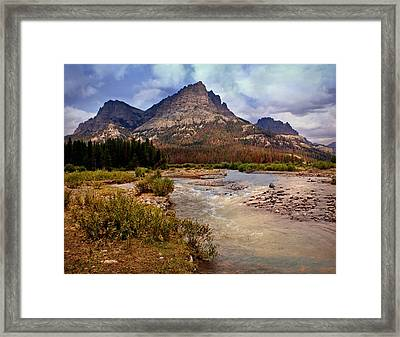 End Of The Road Mountain Framed Print