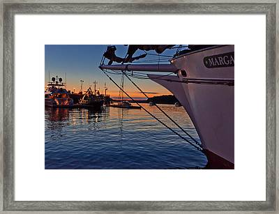 End Of The Sail Framed Print