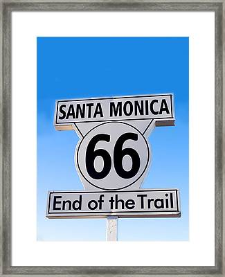 End Of The Trail Framed Print by Art Block Collections
