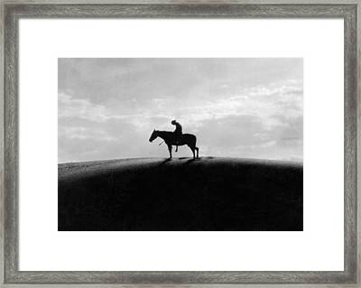 End Of The Trail Framed Print by Underwood Archives