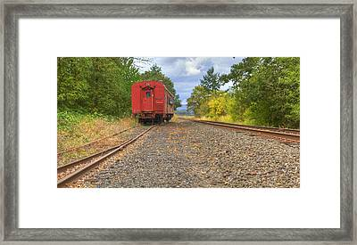 End Of The Train Framed Print