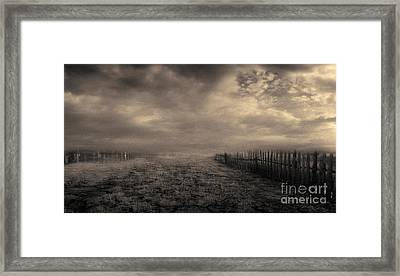 End Of The Way Framed Print