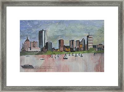 End Of The Workday Framed Print by Sue Melanson