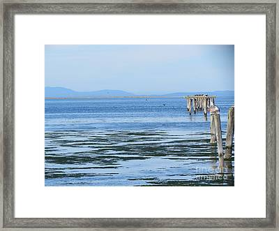 End Of The World In Blue Framed Print