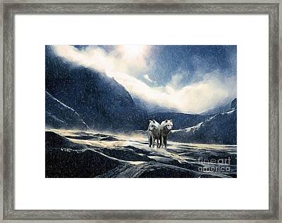 End Of The World- Painting Framed Print by Milan Karadzic