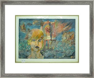 End Of Time Framed Print by Yehuda Peled