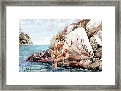 Framed Print featuring the painting End Or Beginning by Mikhail Savchenko