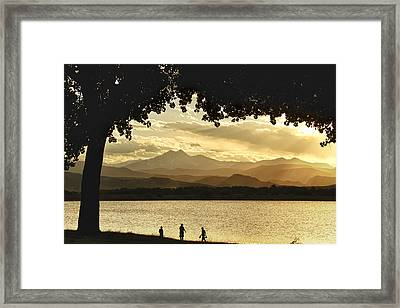 End To A Golden Day At The Lake Framed Print by James BO  Insogna