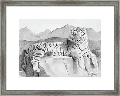 Endangered Species - Tiger Framed Print