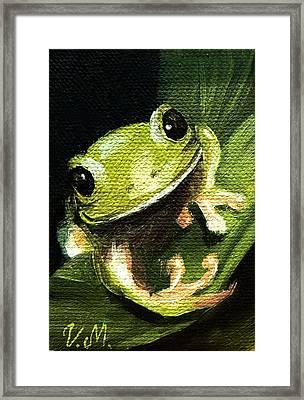 Endangered Tree Frog Framed Print