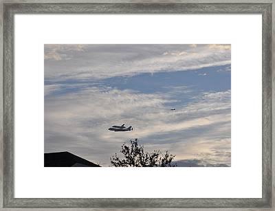 Endeavor Morning Flyover 10 Framed Print