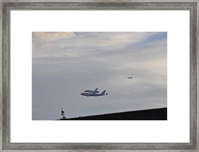 Endeavor Morning Flyover 12 Framed Print