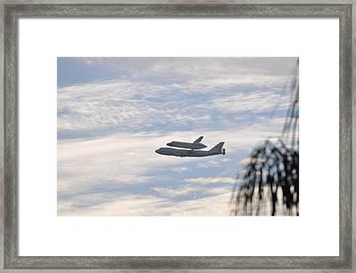 Endeavor Morning Flyover 3 Framed Print