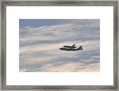 Endeavor Morning Flyover 4 Framed Print