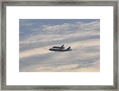 Endeavor Morning Flyover 7 Framed Print