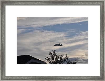 Endeavor Morning Flyover 9 Framed Print