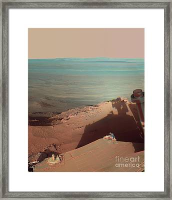 Endeavour Crater, Mars, Rover Photograph Framed Print by Nasa