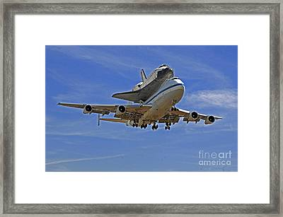Endeavour Space Shuttle Landing In Los Angeles  Framed Print