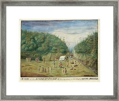 Endeavour's Watering Place Framed Print by British Library