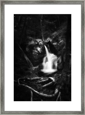 Enders Falls Black And White Framed Print
