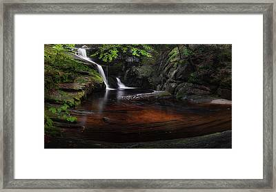 Framed Print featuring the photograph Enders Falls Spring by Bill Wakeley