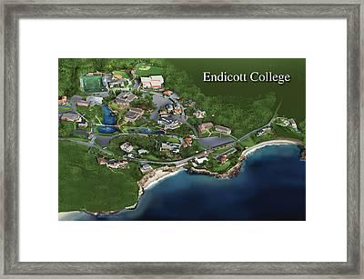 Endicott College Framed Print by Rhett and Sherry  Erb