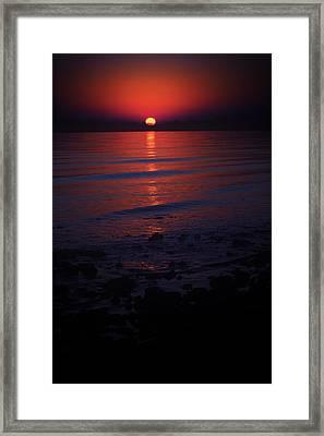 Ending Colors Framed Print