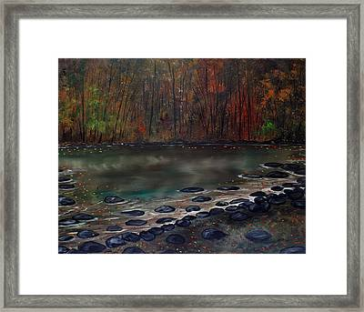 Ending Here Framed Print by Lisa Aerts